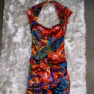 Beautiful Exotic silk dress size 4/6‼️